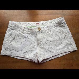 Mossimo ivory lace shorts, size 11